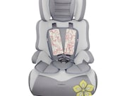 Infant Car Seat Strap Covers { Skopelos Collection } Gray Pink floral