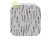 Crib Sheet { Feathers in Fog Wonderland Collection } gray black white feather