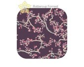 Mini Crib Sheet { Enchanted Leaves in Plum Wonderland Collection } purple pink gray - cradle sheet bassinet sheet cosleeper mattress cover
