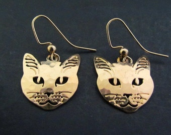 Vintage Wild Bryde Cat Face Earrings