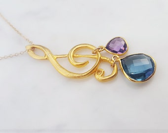 Song of My Heart Gemstone Pendant Necklace
