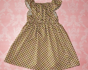 On SALE! Lattice nelle dress, size 12mos.-8 girls