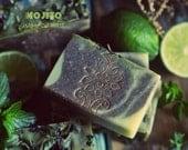 Mojito Shampoo Bar Soap. With Spirulina, Hemp, Rosemary, Green Clay, Mint and Lime. Vegan shampoo for normal to oily hair