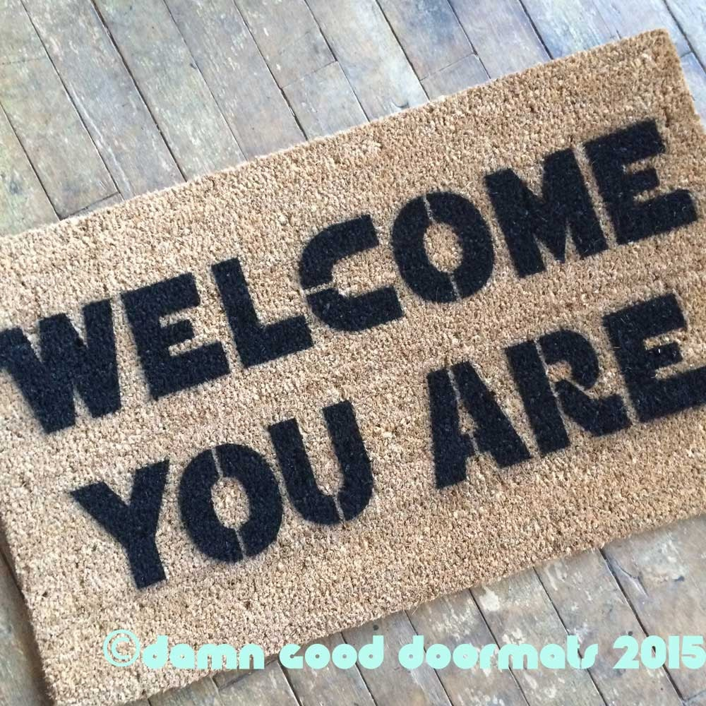 Welcome you are mat sci fi novelty geek stuff by damngooddoormats - Geeky welcome mats ...