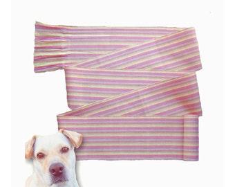 Gypsy Style Clothing - Fabric Belt - Boho Chic Fashion - Bohemian Clothing Women - Guatemalan Fabric - Striped Clothing - Pink Yellow SA28