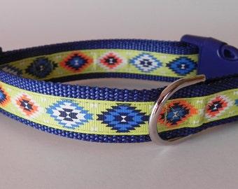 Neon Aztec Dog Collar