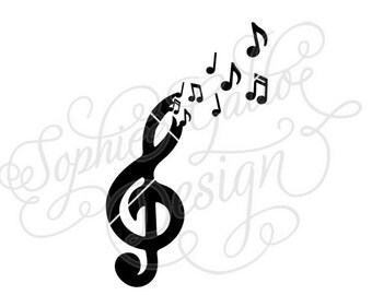 Free the Music SVG DXF digital download files for Silhouette Cricut vector Clip Art graphics Vinyl Paper Cutting Machines Screen Printing