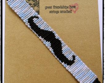 Mustache Woven Friendship Bracelet