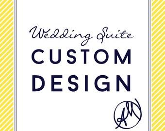 Custom Designed Wedding Invitation Suite