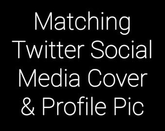 30% OFF SALE Made To Match Twitter Header Image and Profile Picture