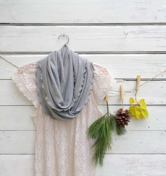 Grey Scarf, Infinity Scarf, Heather Gray Scarf, Gift Under 25, Women Scarf, Fall Scarf, Winter Scarf, Circle Scarf, Gift for Her