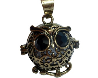 YOur perSOnal STYlish Essential oil necklace diffuser Steampunk Baby owl d1 0