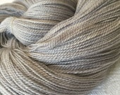 hand dyed LACE yarn Silk Treasures Pieces of Eight Silver Gray Grey handdyed superfine merino silk blend 875 yards
