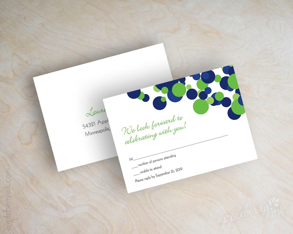 Royal Blue And Lime Green Wedding Invitations: Wedding Invitations Polka Dot Invitations Polka Dot Wedding