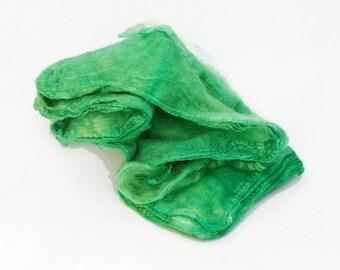 Mawatas Silk Hankies Shamrock Green - 15 grams