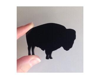 Bison Animal Brooch Pin - Southwestern Boho Chic Jewelry - Buffalo Shape Pin