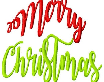 Merry Christmas Tree Machine Embroidery Design