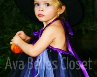 Wickedly Cute Witch Tutu Costume 12m-5T Great for Halloween or Portraits