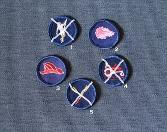 Dee's merit badges, girl guides/girl scouts