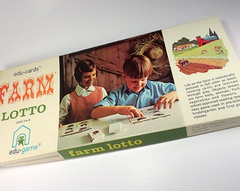 edu-cards Farm Lotto, Matching Game, Pre-School to First Grade, 1 to 6 Players, Parlor Games, Family Game Night, Friday Night Board Games