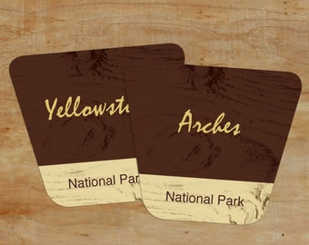 Table Numbers -- Instant Download 10 National Park Wedding Table Name Cards, Rustic Table Numbers PDF