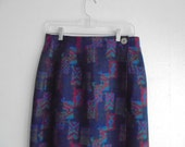 Vintage Navy Pendleton Wool Skirt