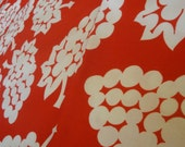 Vintage Cotton Red White Fabric 3 Yards