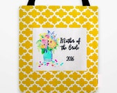 Mother of the Groom Bag, Bridesmaid Gifts, Wedding Tote Bags, Mother of the Bride, Custom Tote Bags, Beach Bag, Flowergirl Gift, maid honor