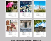 ON SALE 2016 PARIS Photo Calendar, 2016 France Desk Calendar, Paris Decor, 2016 Calendar - Loose-leaf Paper Goods Desk Calendar (5x7)