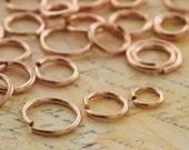 50 Handmade 14kt Rose Gold Filled Jump Rings - You Pick Gauge and Diameter