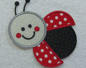 Ladybug Patch Fabric Embroidered Iron On Applique Patch Ready to Ship