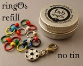 ringOs REFILL - Limited Edition Football Fever! - Snag-Free Ring Stitch Markers for Knitting