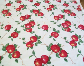 Vintage Apple Tablecloth, 1960s, 1950s, kitchen