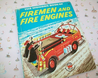 Vintage Book, Firemen and Fire Engines, 1950s