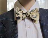 Antique Bicycle Bow Tie
