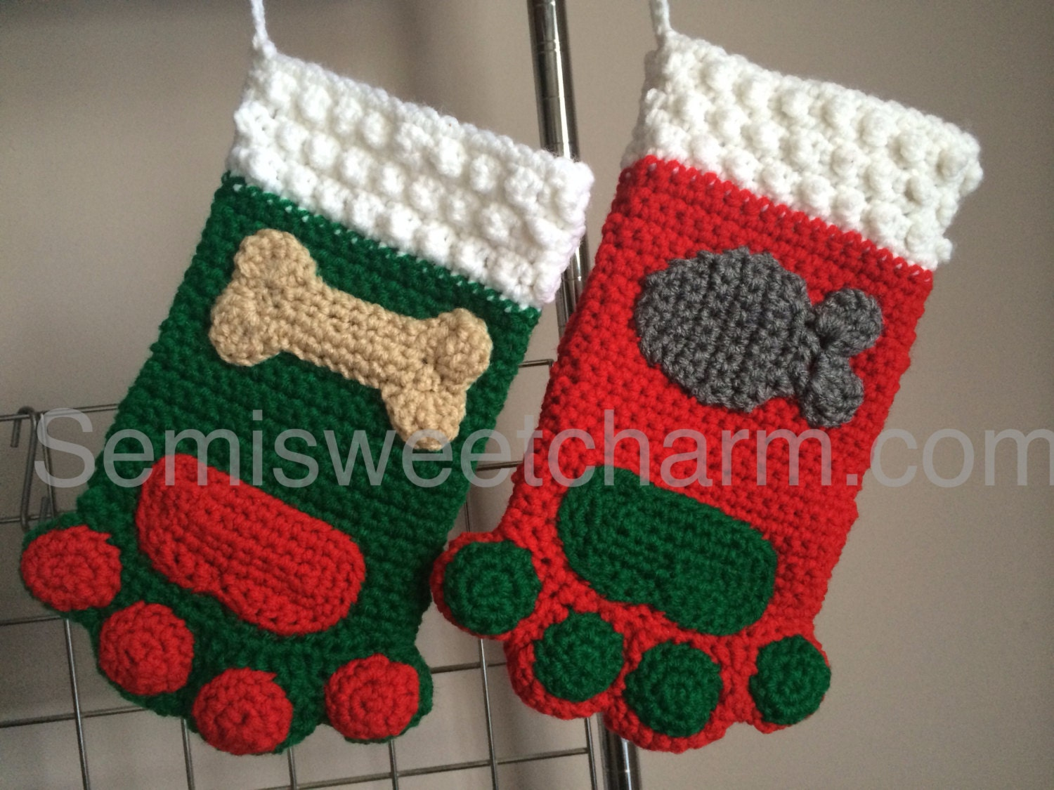 Paw print stocking christmas holiday dog cat pet photo prop pdf paw print stocking christmas holiday dog cat pet photo prop pdf crochet digital download pattern bankloansurffo Image collections