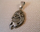 Vintage Sterling Silver Kokopelli Pendant with Large Bail