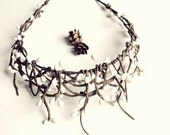 Twig crown, rustic headpiece, berry headband, woodland crown, bridal tiara, wedding hair accessory, boho hair crown, bohemian headband