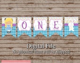 Digital Little Tea Party Princess First Birthday High Chair Banner