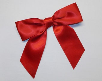 Red Ribbon Hair Bow Hairbow to Match Shirley Temple Costume Dress 5 inch Red Ribbon Hairbow Shirley Temple Costume Accessory