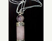 SALE Love, Light & Blessings- Amethyst, Rose quartz and Quartz crystal necklace in Sterling silver