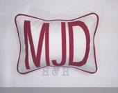 X Large Monogrammed Applique Pillow , Monogram Pillow, Personalized Kids Pillow, Dorm Decor, Monogrammed Wedding Gift , Nursery Pillow