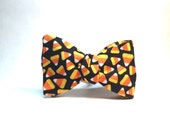 Candy Corn Halloween Bow Tie