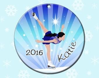 Ice Skating Christmas Ornament - Personalized Skating Dreams Design