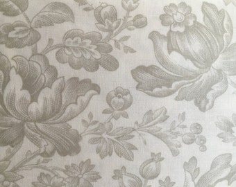 SALE  Moda 3 Sisters Whitewashed Cottage  Fabric 1 yard each Shabby White Grey Large Floral Flowers