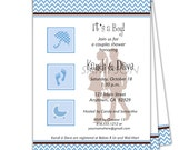 Baby Shower Invitations/Couples Baby Shower/Baby Shower Announcements/set of 10-5x7 invitations