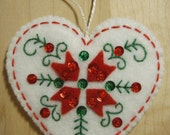 Bucilla Felt NORDIC HEART CHRISTMAS Ornament  from the Nordic Santa Collection