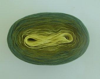 LEMONGRASS --mega--   Color Changing Cotton yarn  865 yards/180 gr  Fingering Weight