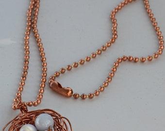 Birdnest Copper Necklace