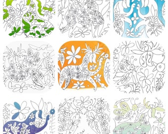 Save The Bees Otomi Coloring Book PDF With Proceeds Going To Our Bee Conservation Project
